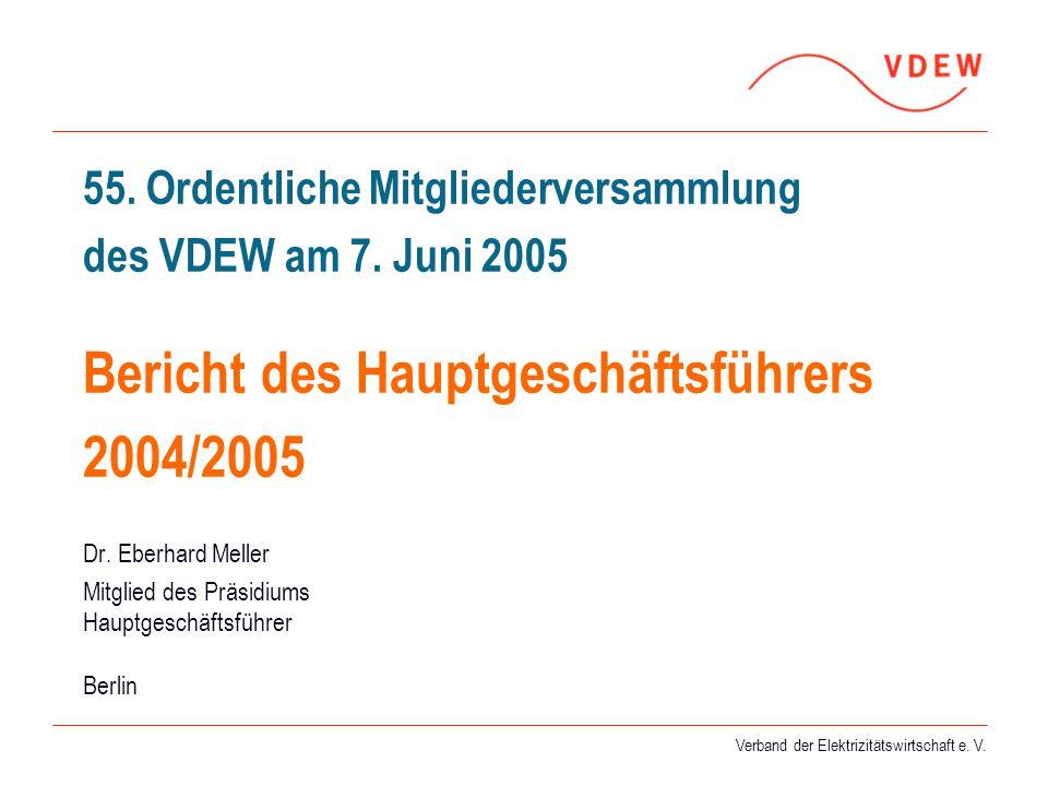 55. Ordentliche Mitgliederversammlung des VDEW am 7