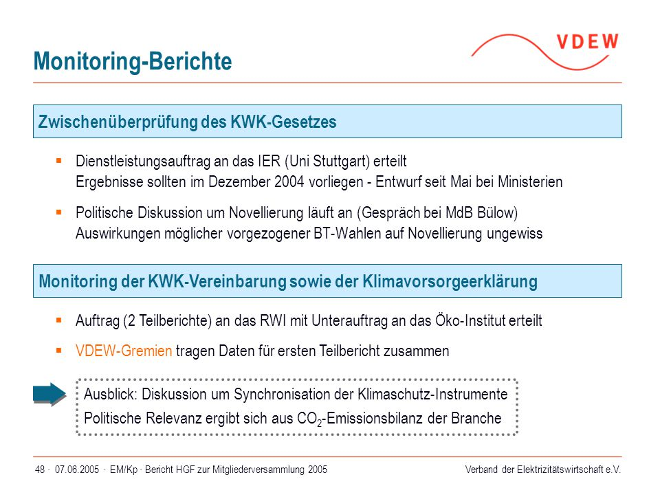 Monitoring-Berichte Zwischenüberprüfung des KWK-Gesetzes