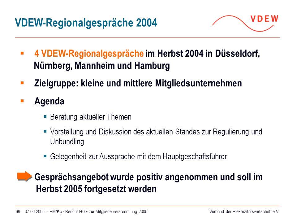 VDEW-Regionalgespräche 2004