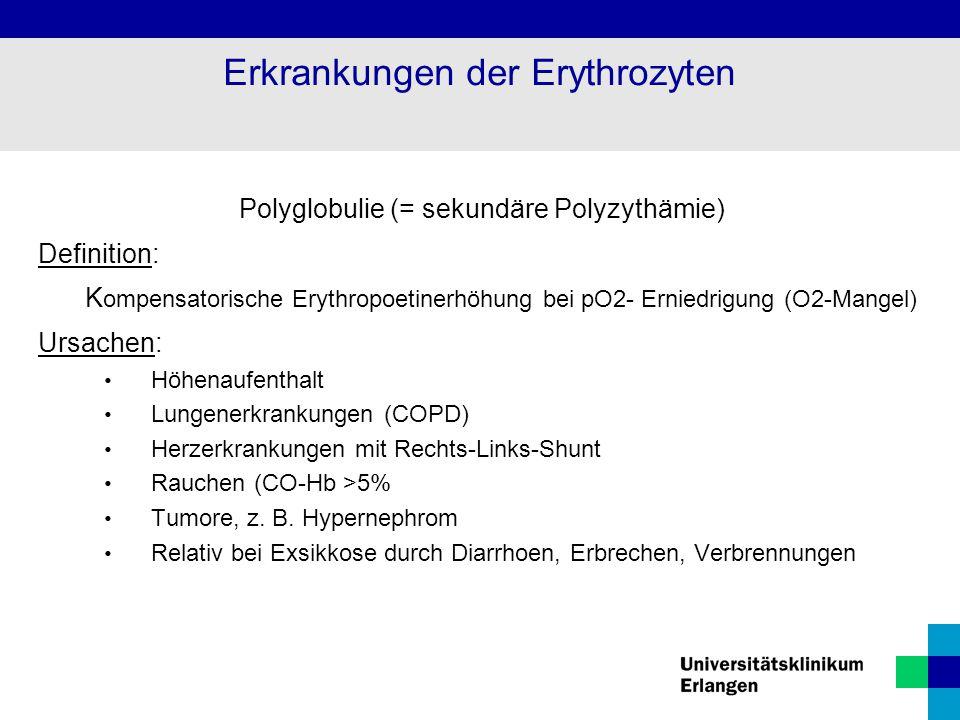 Erkrankungen der Erythrozyten