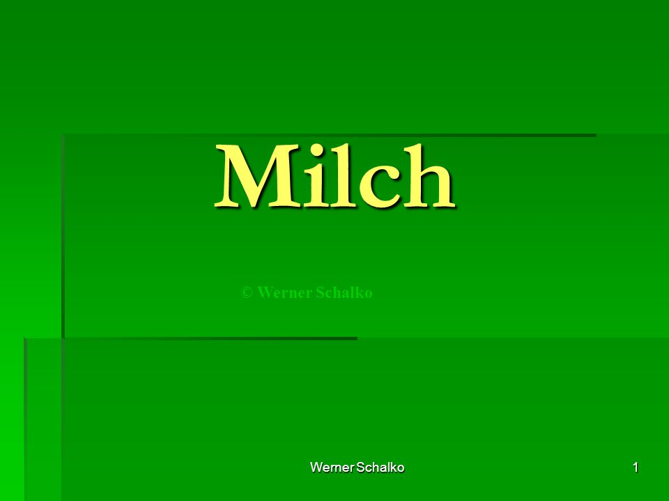 Milch © Werner Schalko Werner Schalko