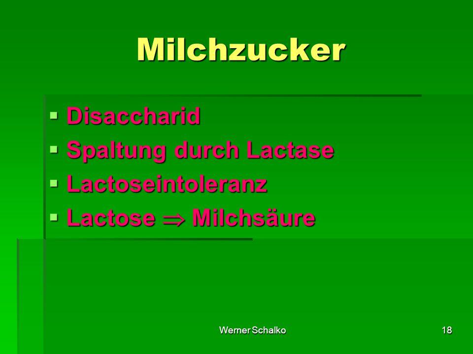 Milchzucker Disaccharid Spaltung durch Lactase Lactoseintoleranz