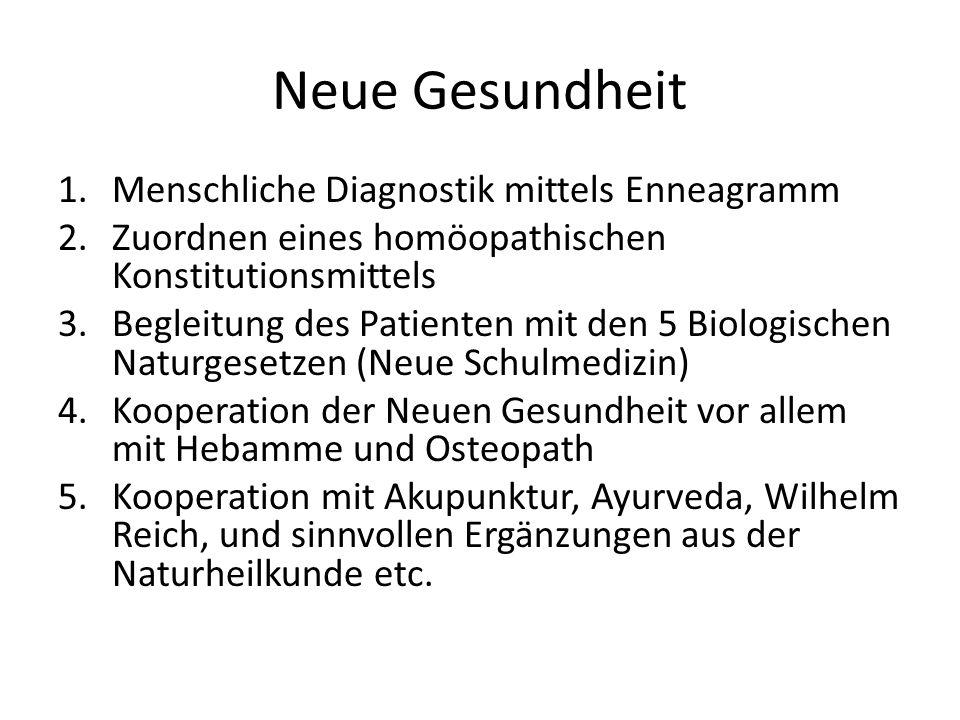 Neue Gesundheit Menschliche Diagnostik mittels Enneagramm