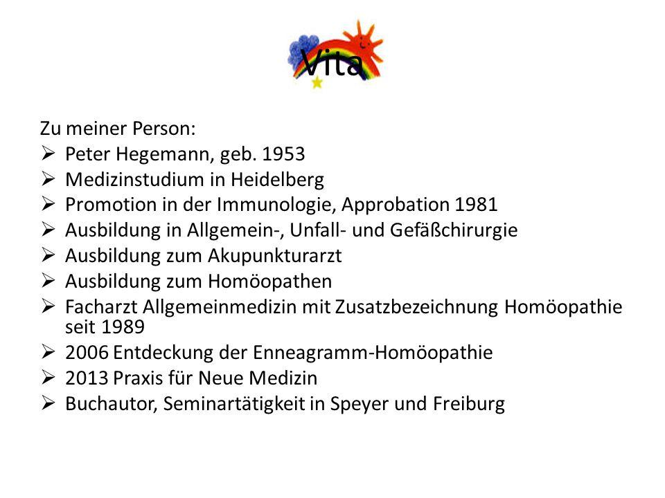 Vita Zu meiner Person: Peter Hegemann, geb. 1953