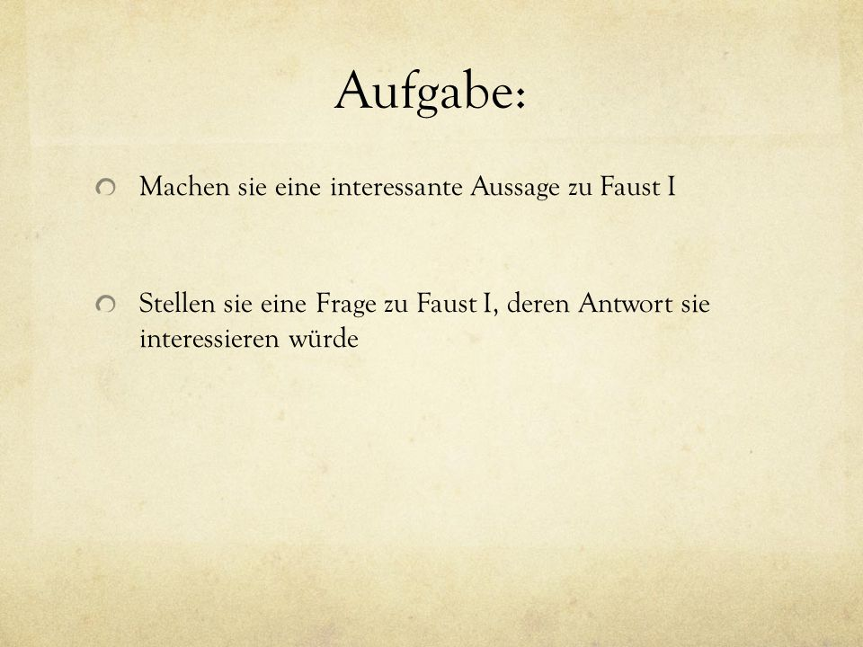 straße analyse faust