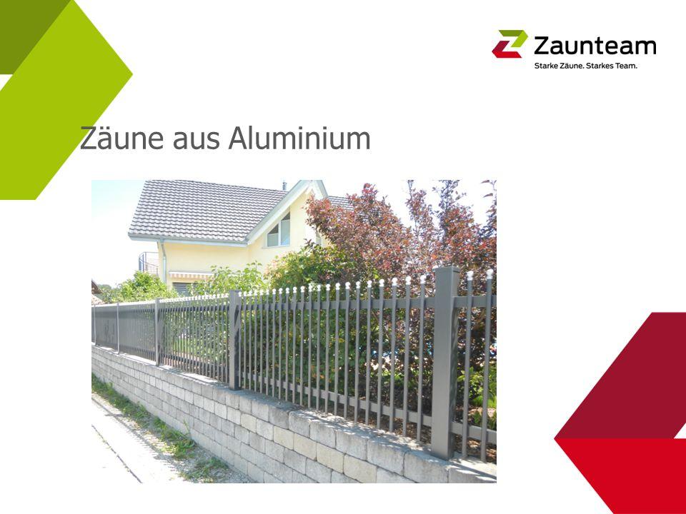 Zäune aus Aluminium