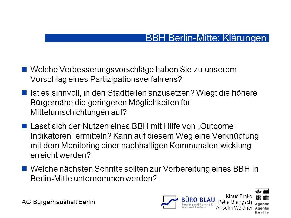 BBH Berlin-Mitte: Klärungen