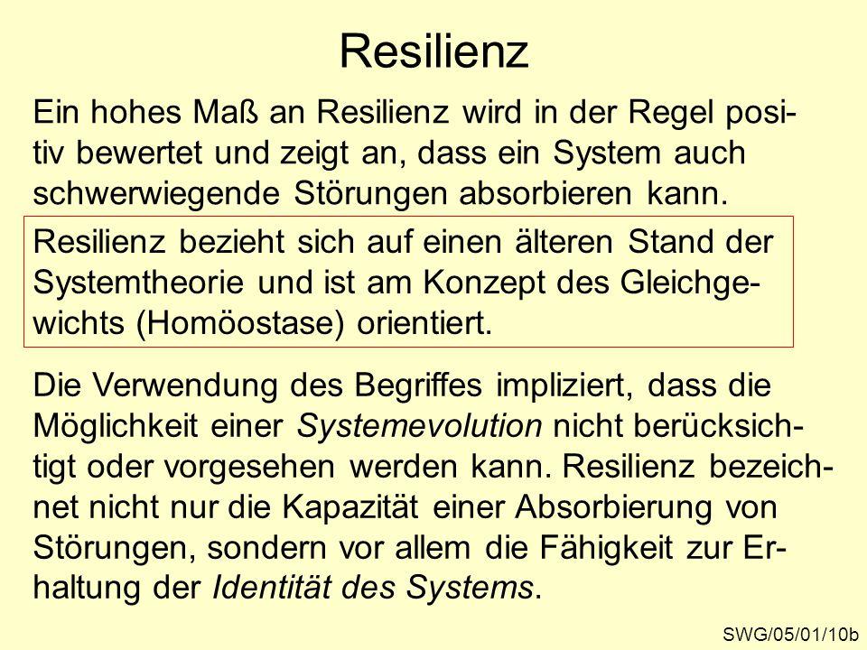 Resilienz Ein hohes Maß an Resilienz wird in der Regel posi-