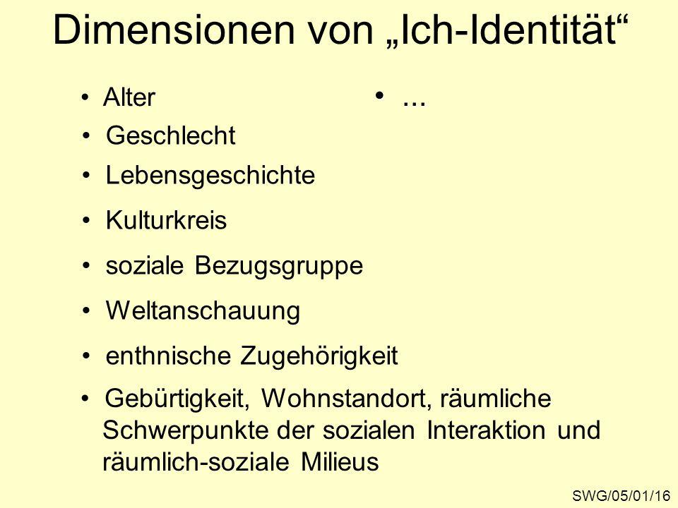 """Dimensionen von """"Ich-Identität"""