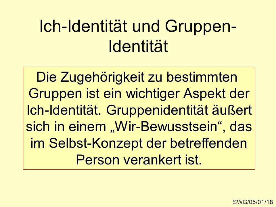 Ich-Identität und Gruppen-Identität