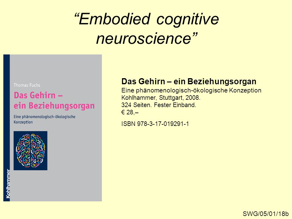 Embodied cognitive neuroscience