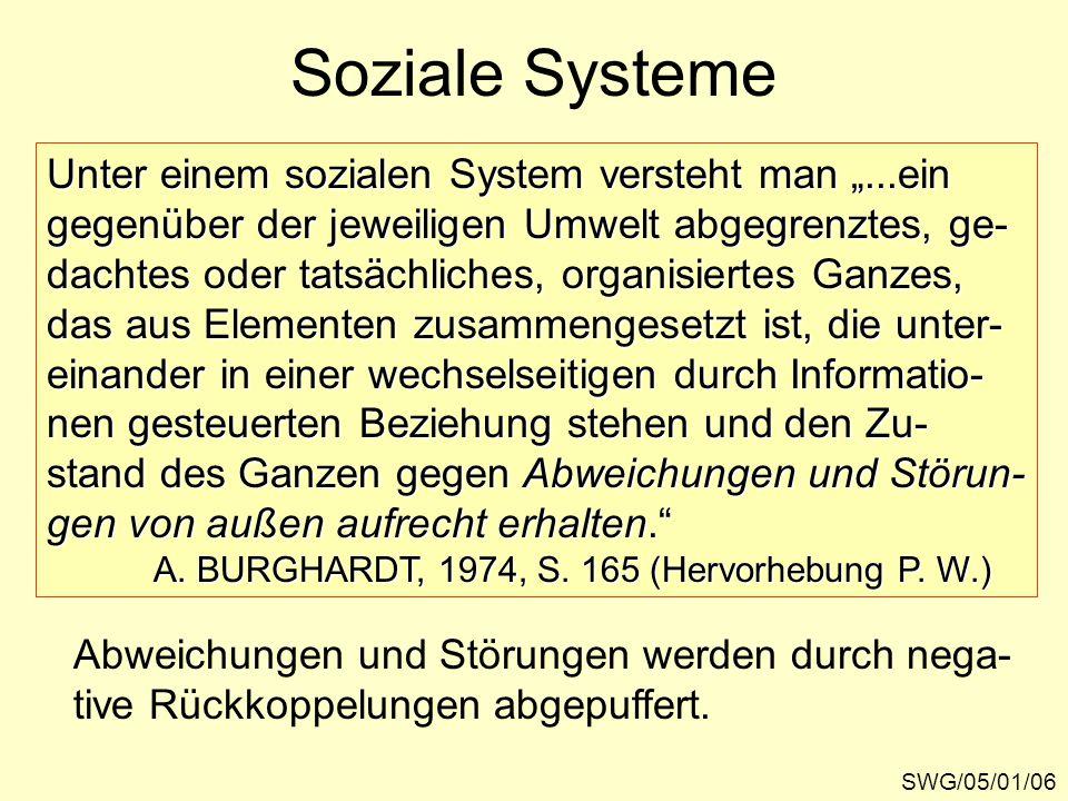 """Soziale Systeme Unter einem sozialen System versteht man """"...ein"""