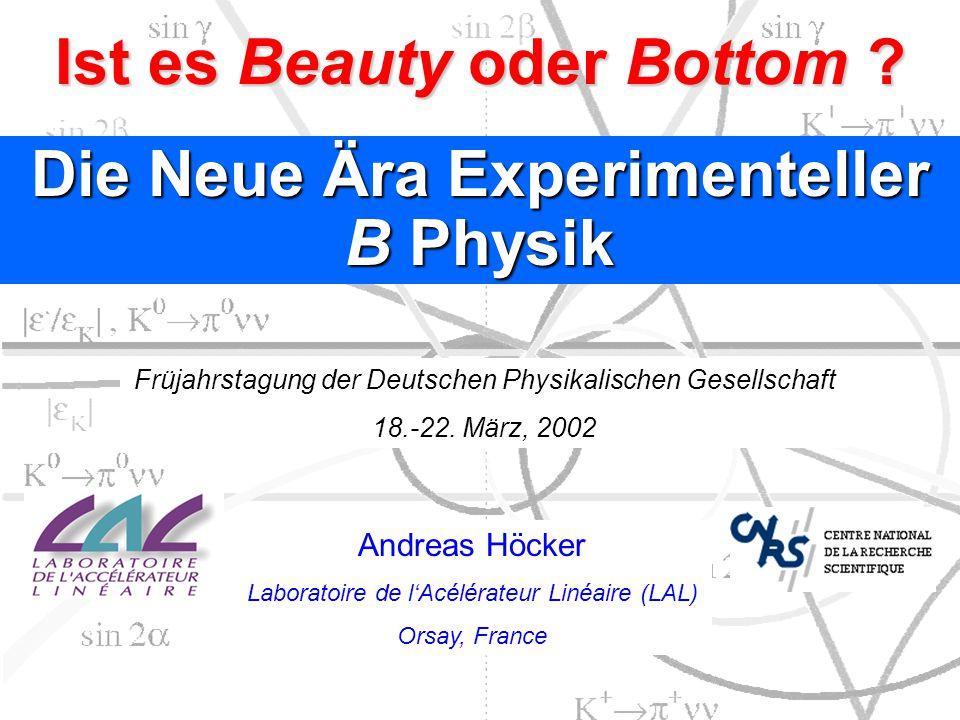 Ist es Beauty oder Bottom Die Neue Ära Experimenteller B Physik