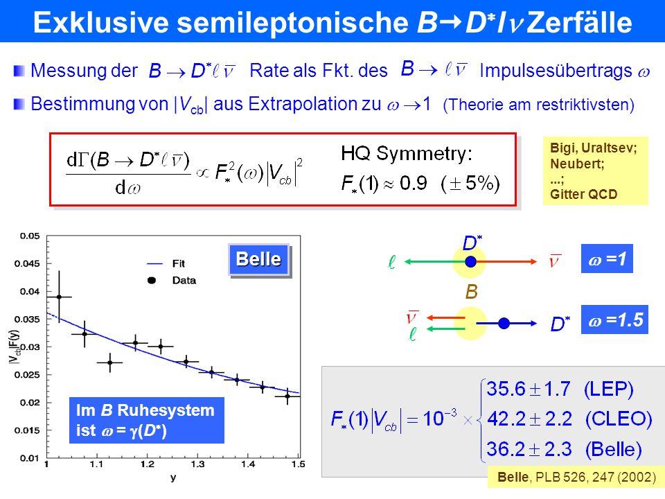 Exklusive semileptonische BDl Zerfälle