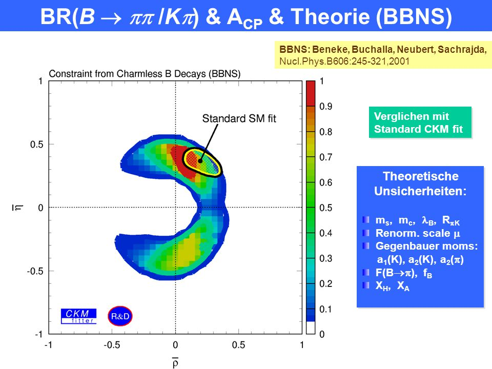 BR(B   /K) & ACP & Theorie (BBNS)