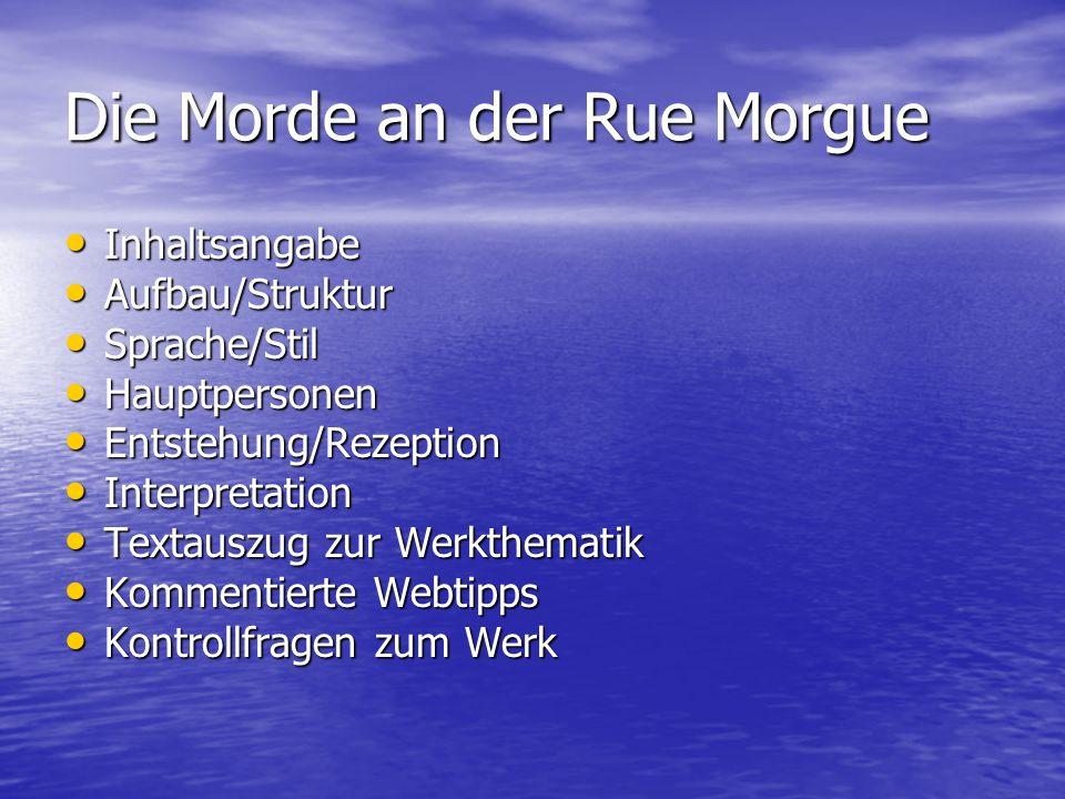 Die Morde an der Rue Morgue