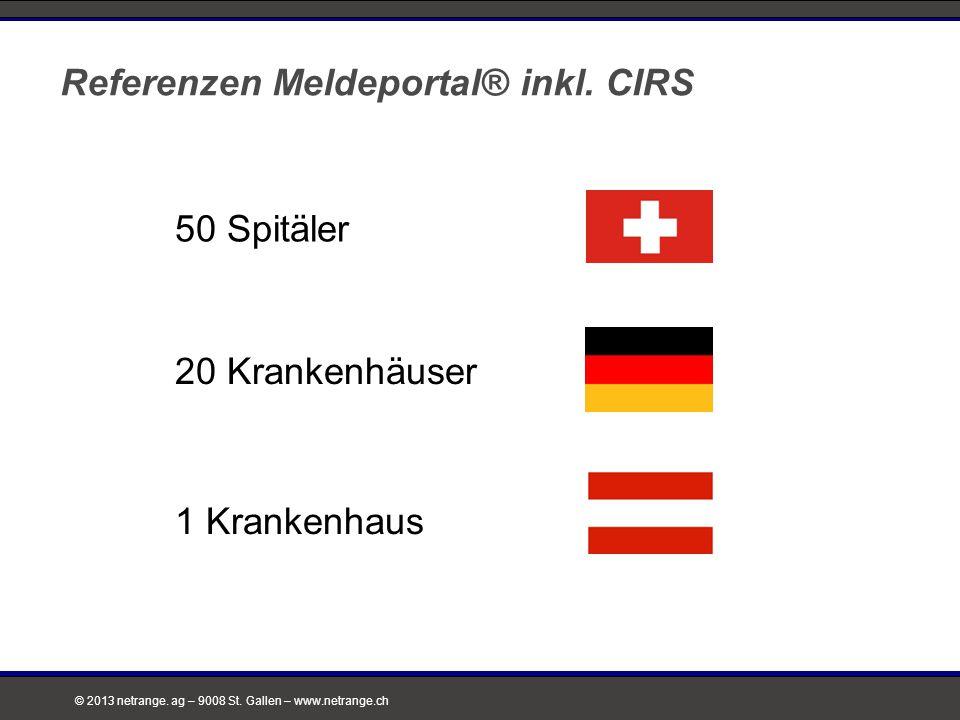 Referenzen Meldeportal® inkl. CIRS
