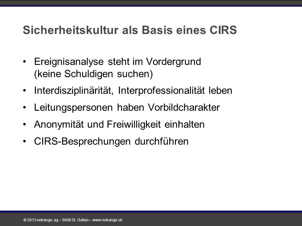 Sicherheitskultur als Basis eines CIRS