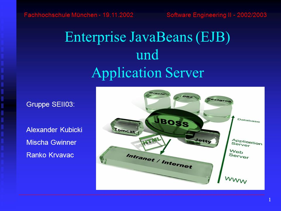 Enterprise JavaBeans (EJB) und Application Server
