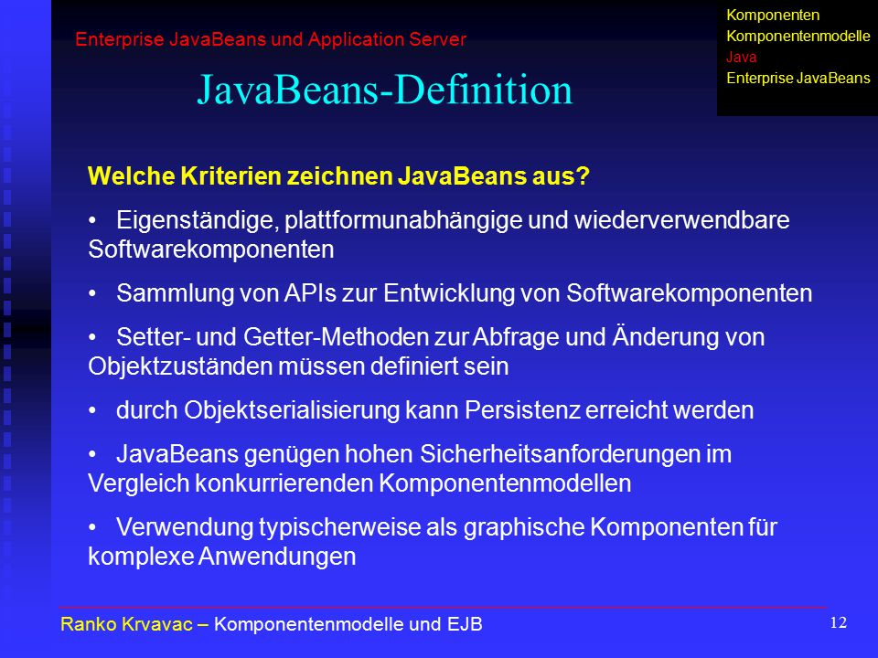 JavaBeans-Definition