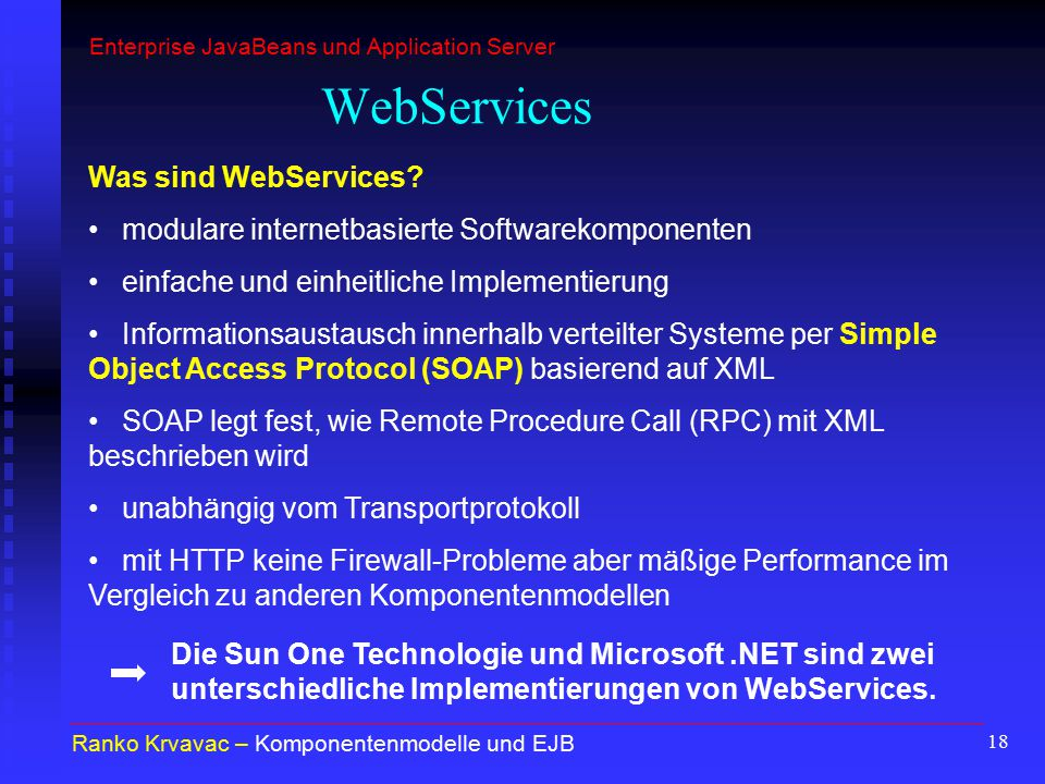 WebServices Was sind WebServices
