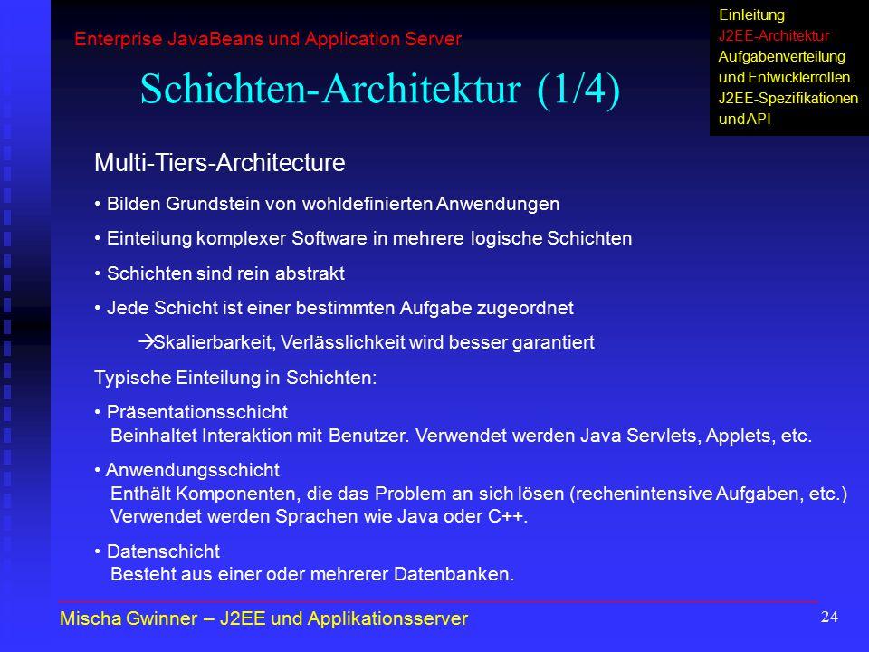 Schichten-Architektur (1/4)