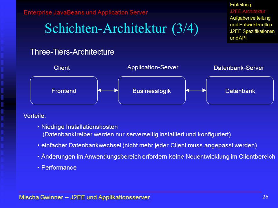 Schichten-Architektur (3/4)