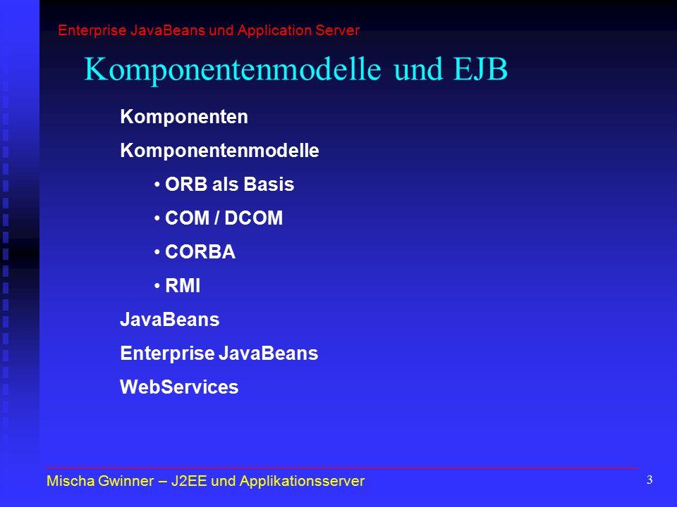 Komponentenmodelle und EJB