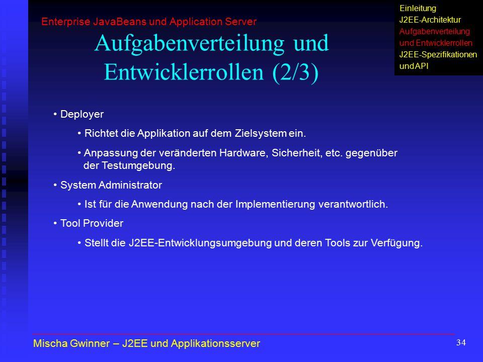 Aufgabenverteilung und Entwicklerrollen (2/3)