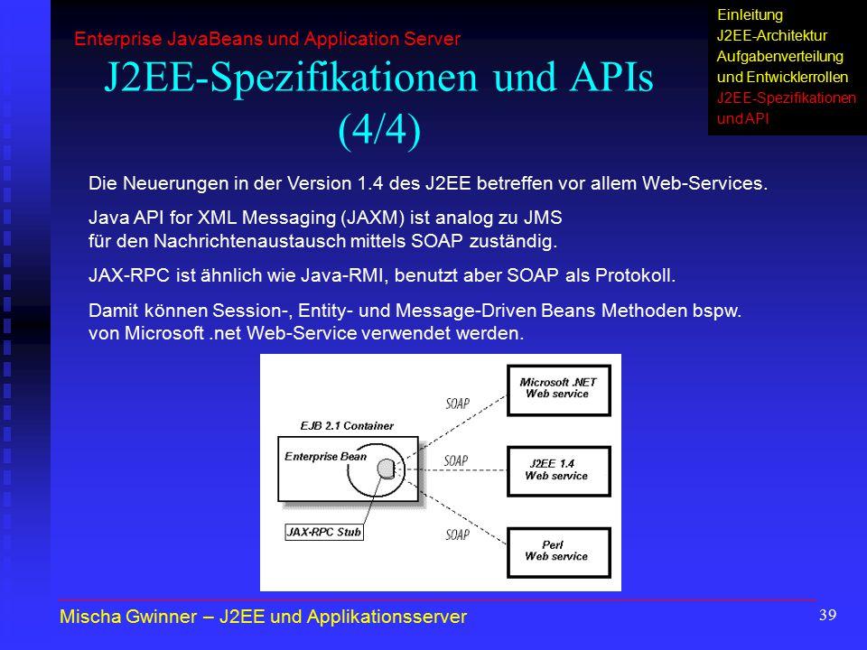 J2EE-Spezifikationen und APIs (4/4)