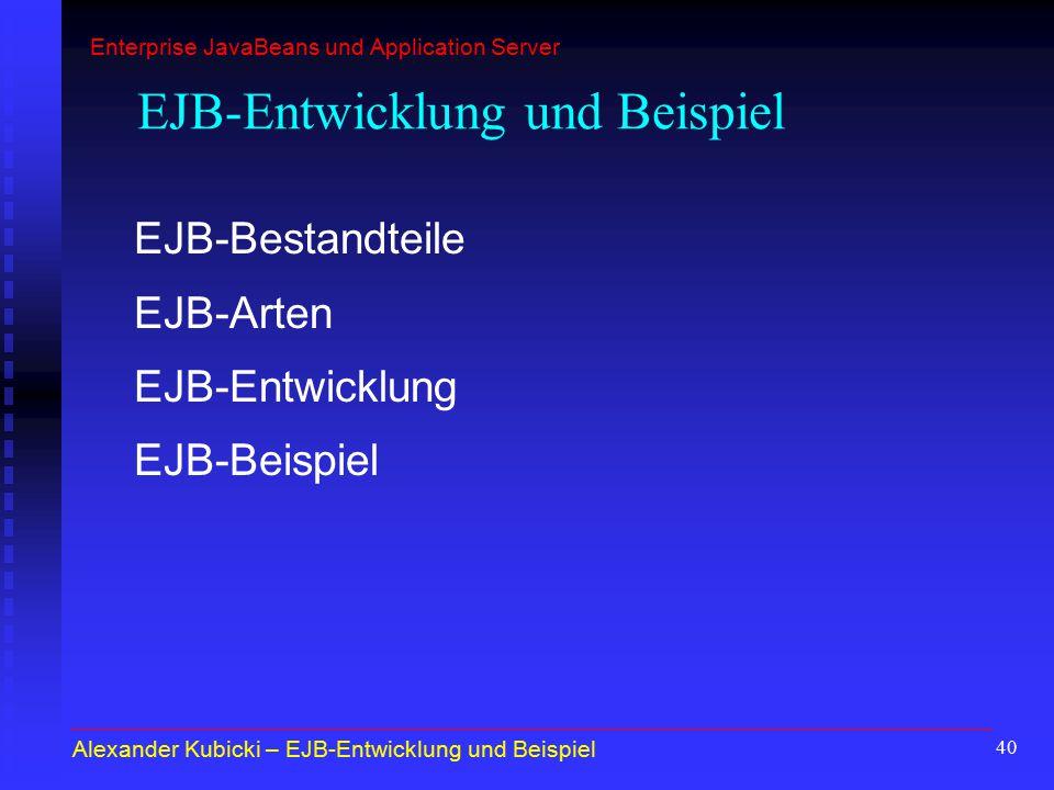 EJB-Entwicklung und Beispiel