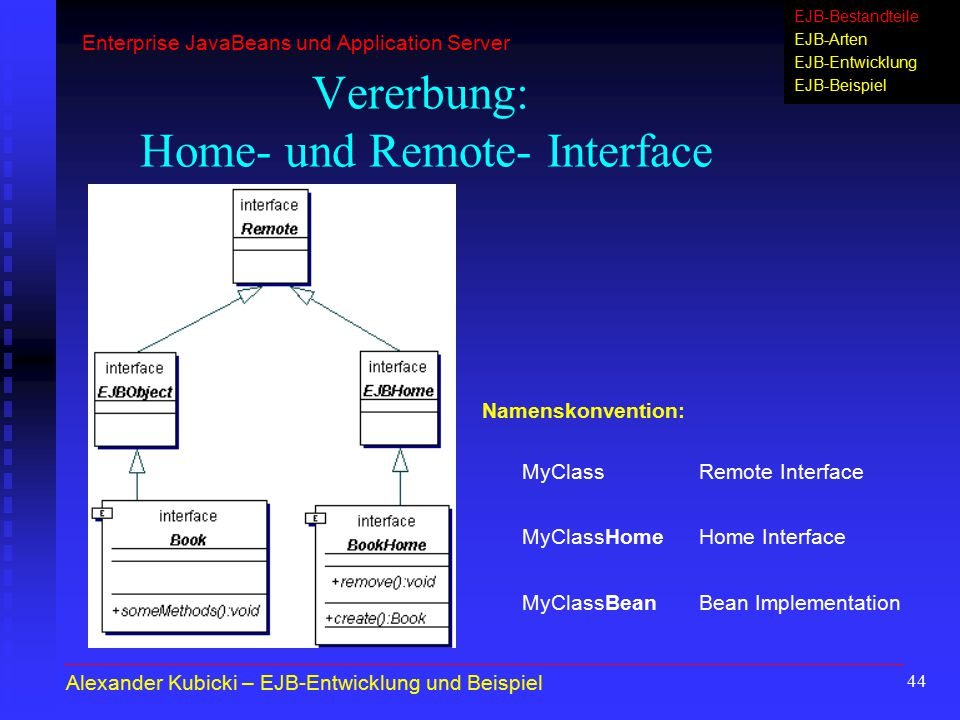 Vererbung: Home- und Remote- Interface