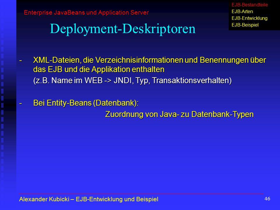 Deployment-Deskriptoren