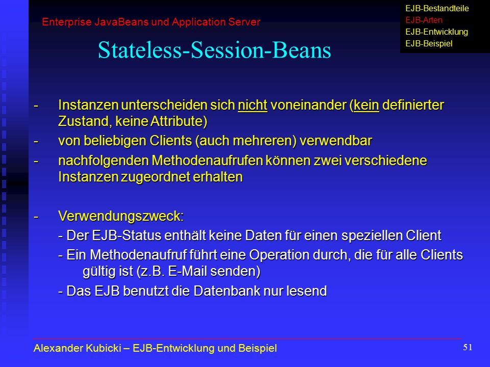 Stateless-Session-Beans
