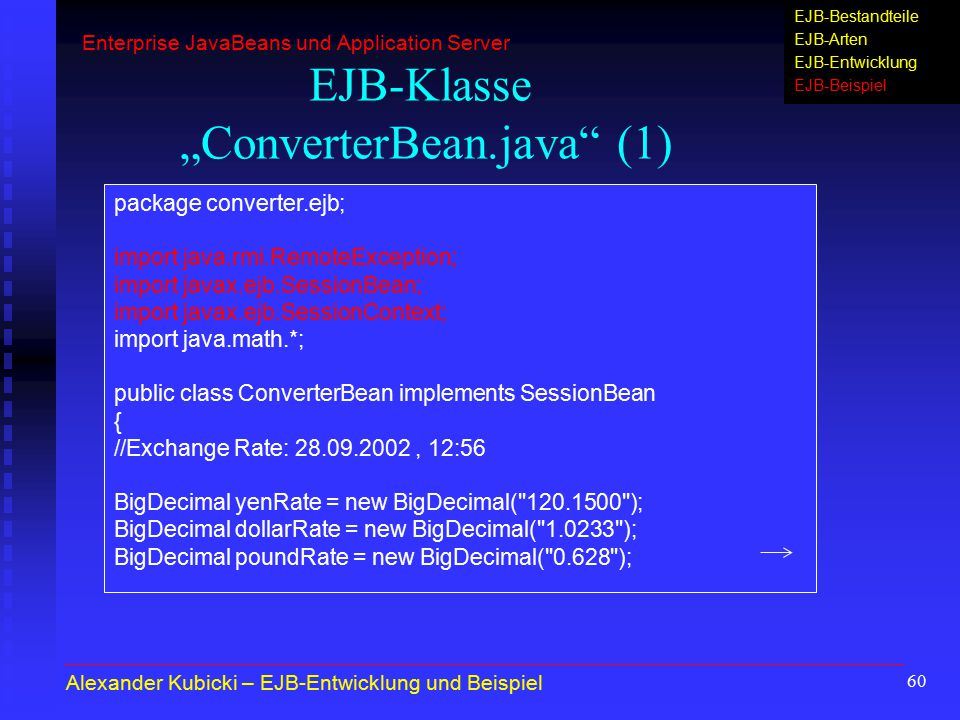 "EJB-Klasse ""ConverterBean.java (1)"