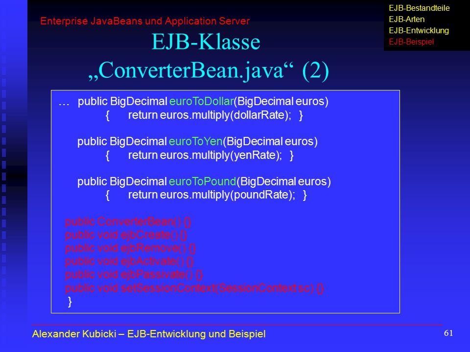 "EJB-Klasse ""ConverterBean.java (2)"