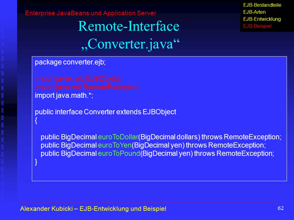 "Remote-Interface ""Converter.java"