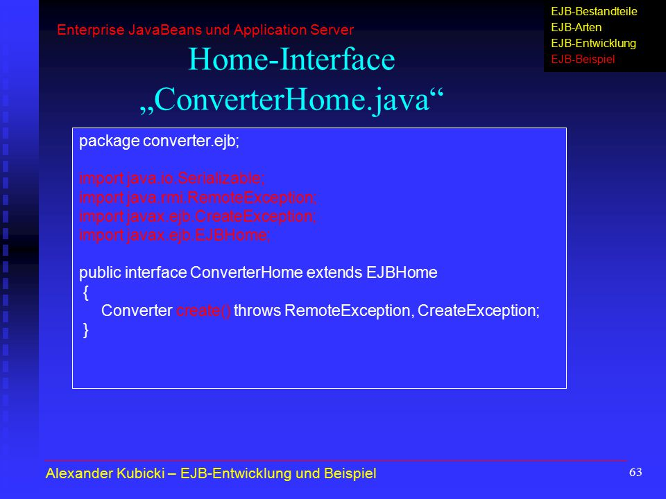 "Home-Interface ""ConverterHome.java"