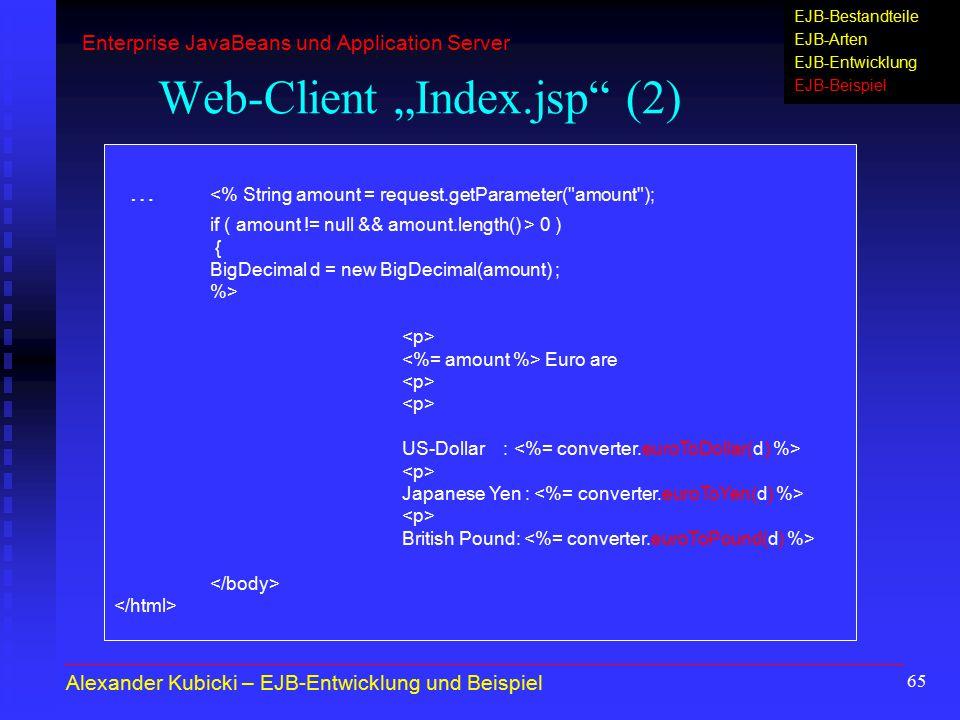 """Web-Client """"Index.jsp (2)"""
