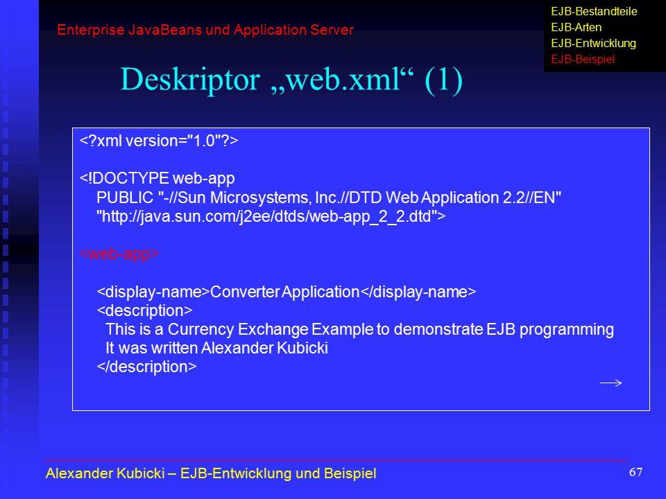"""Deskriptor """"web.xml (1)"""
