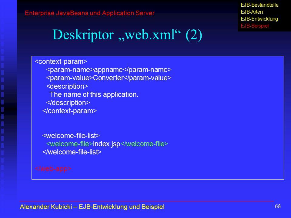 """Deskriptor """"web.xml (2)"""