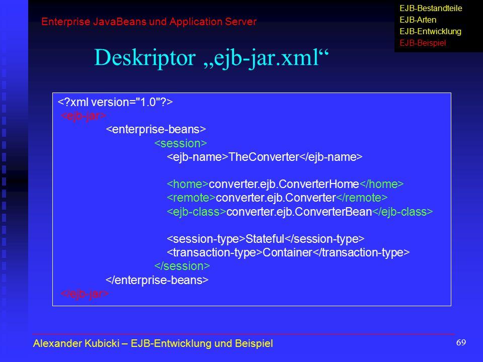 """Deskriptor """"ejb-jar.xml"""