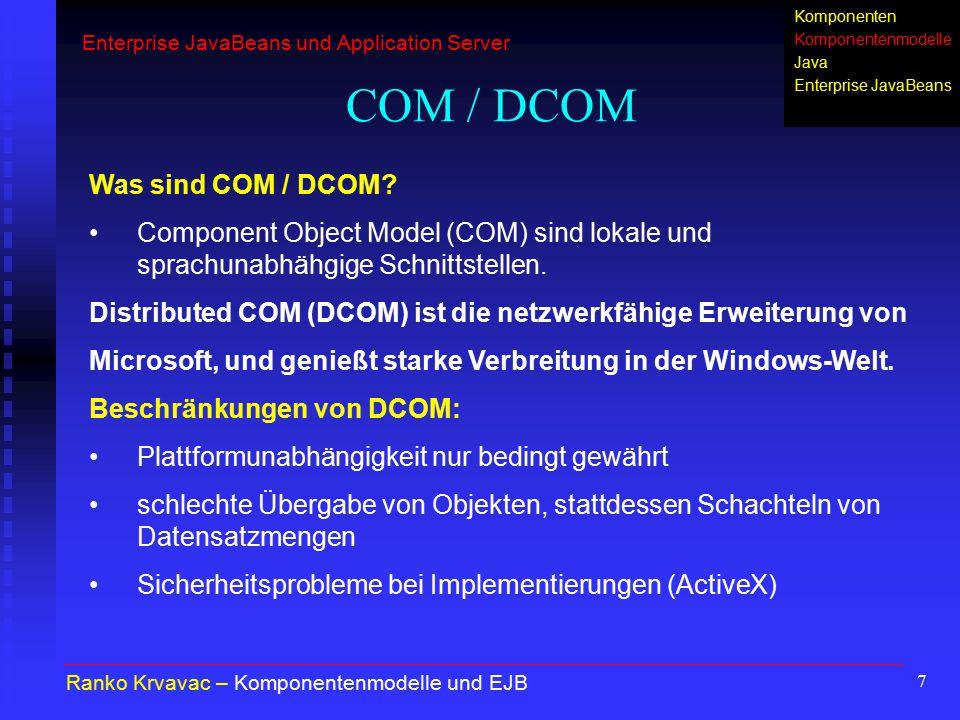 COM / DCOM Was sind COM / DCOM