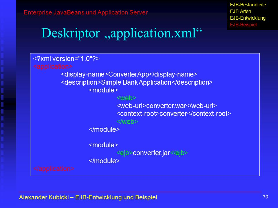 "Deskriptor ""application.xml"