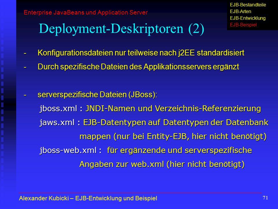 Deployment-Deskriptoren (2)