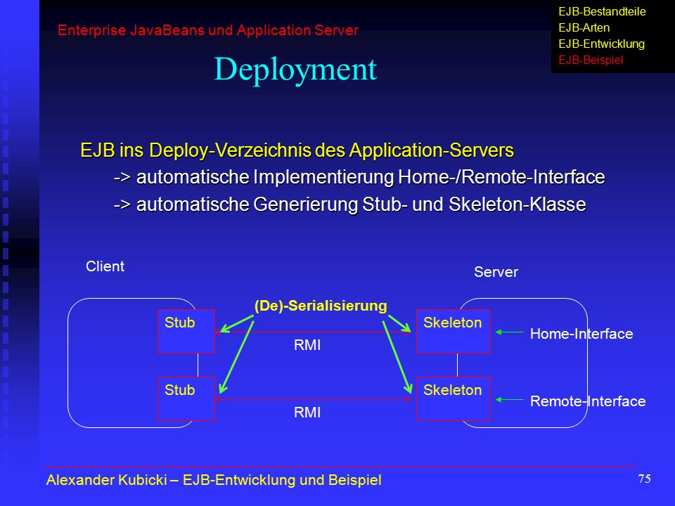 Deployment EJB ins Deploy-Verzeichnis des Application-Servers