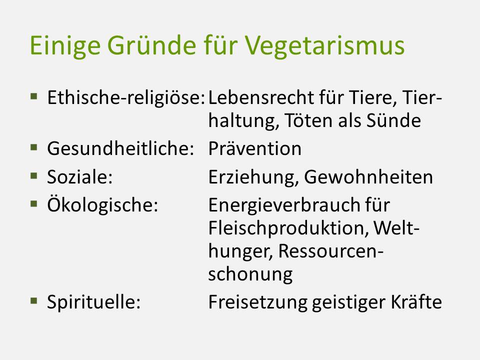 Einige Gründe für Vegetarismus