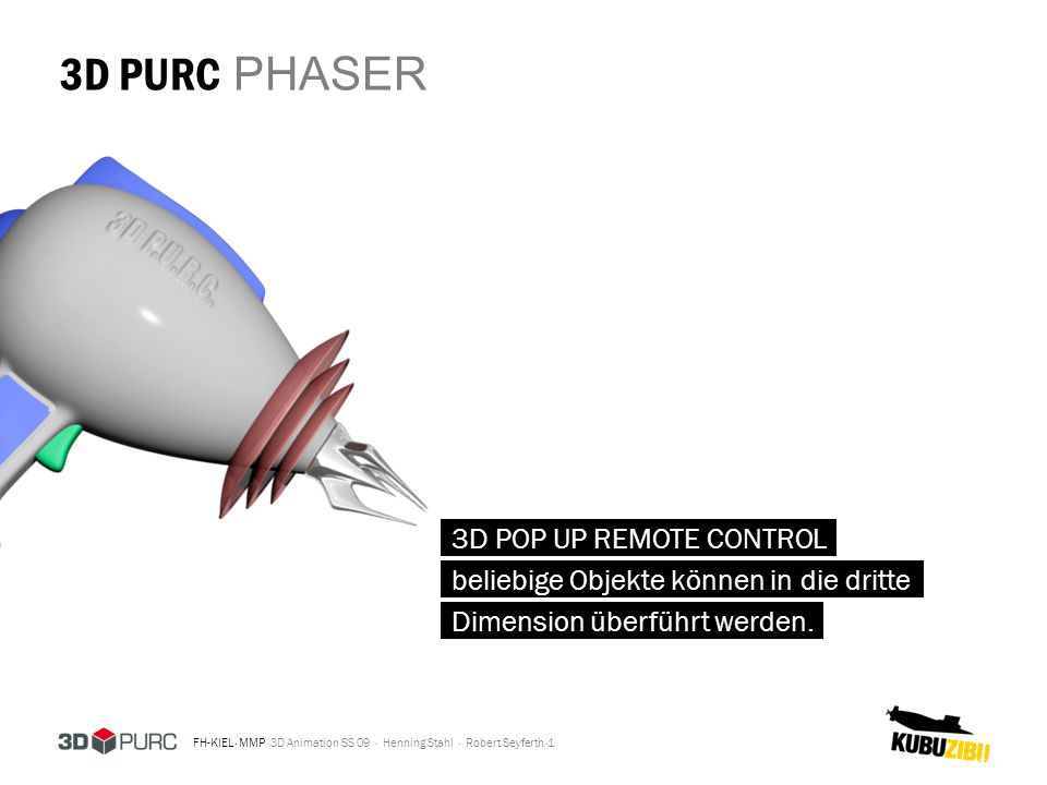 3D PURC PHASER 3D POP UP REMOTE CONTROL