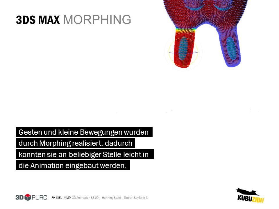 3DS MAX MORPHING Gesten und kleine Bewegungen wurden