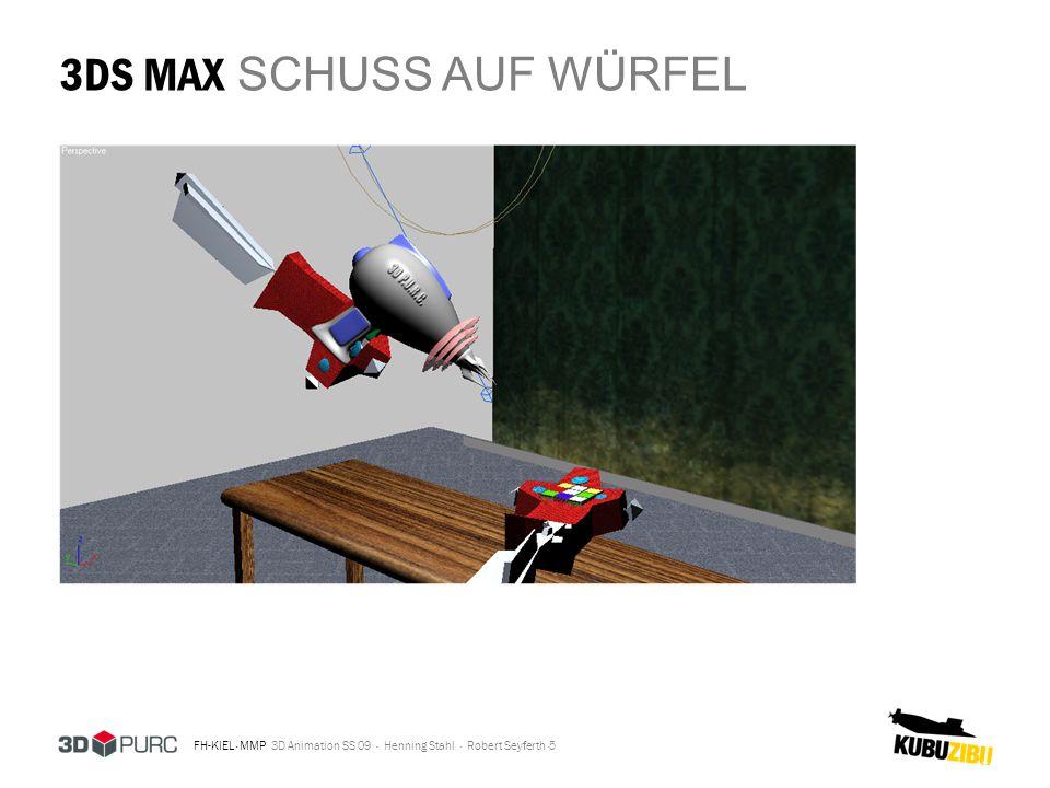 3DS MAX SCHUSS AUF WÜRFEL